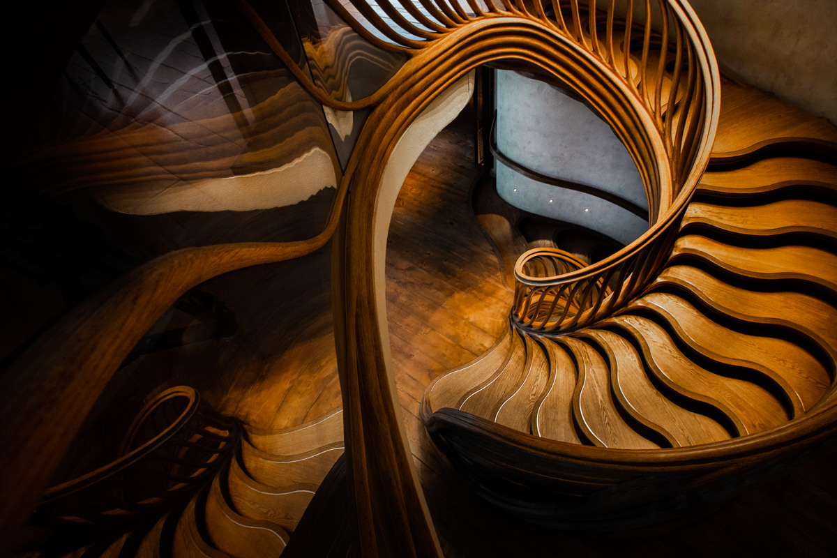 spiral staircase london mayfair architectural photography