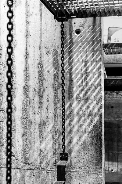 interior zurich with chains architectural photography