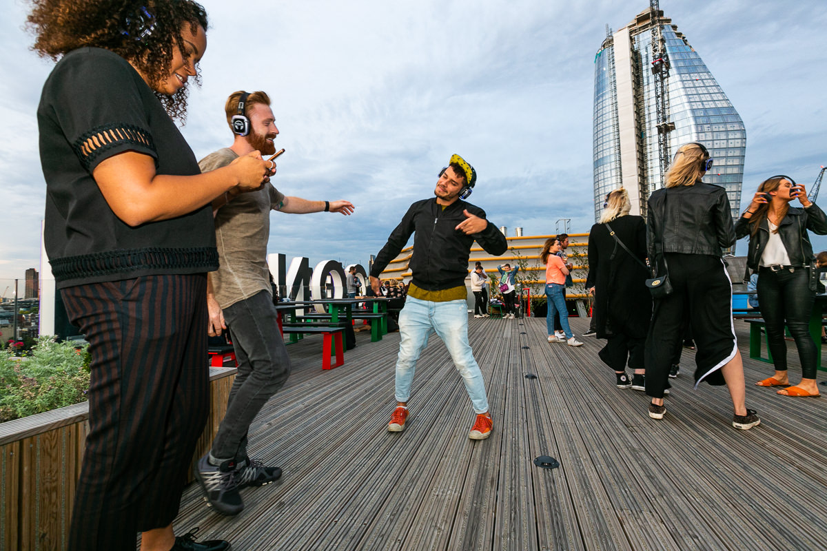 felt music party sea containers london photography