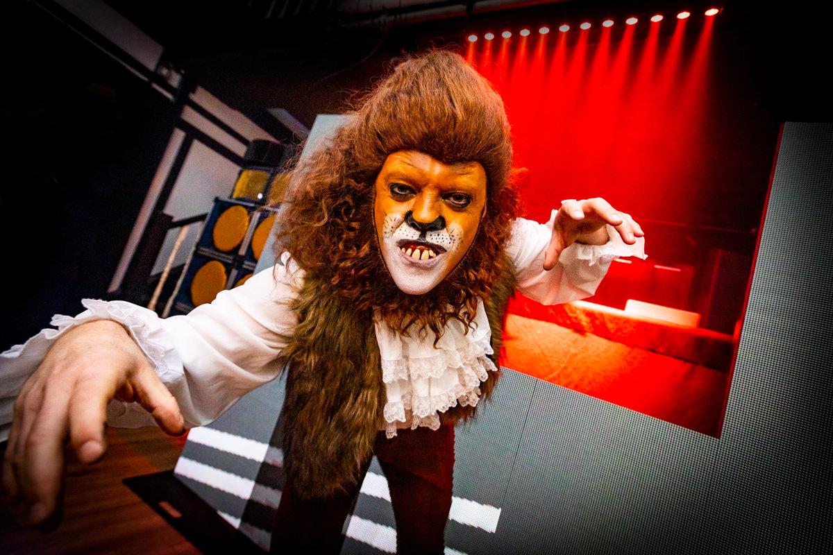 man with warewolf costume london