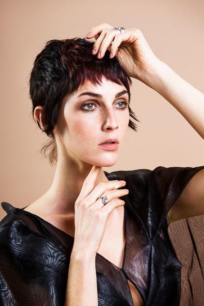 fashion portrait of woman london