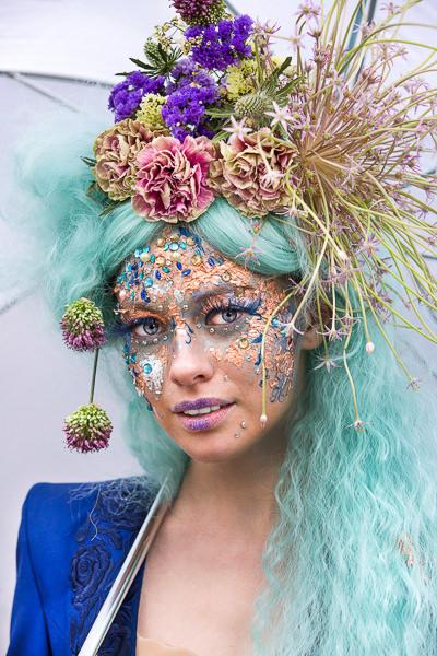 portrait of woman flowers chelsea