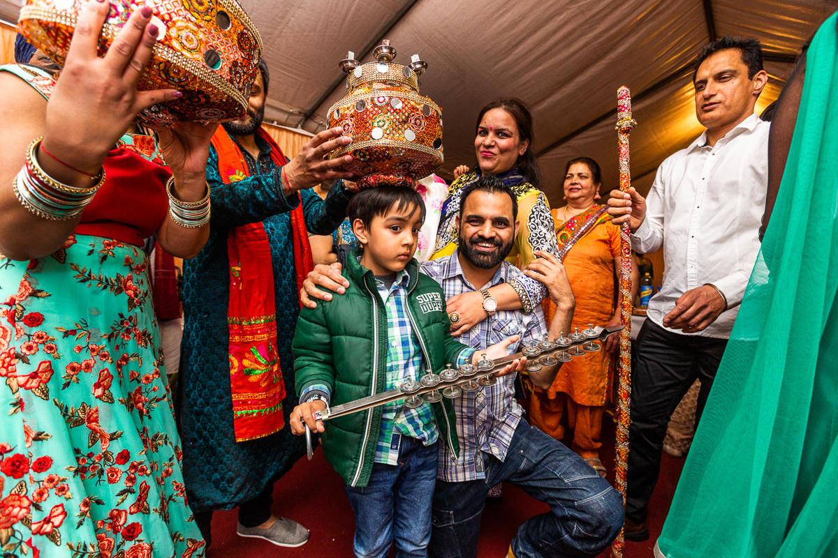 boy at indian sikh wedding