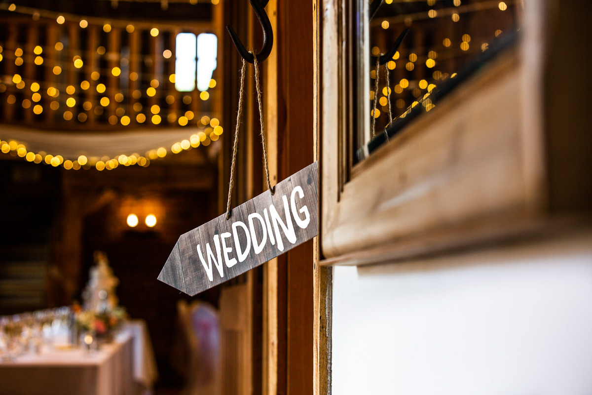 wedding sign with fairy lights london