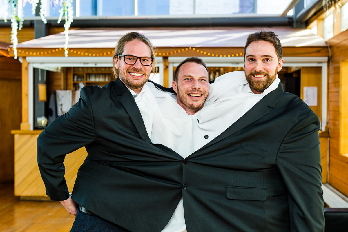 three headed monster wedding london