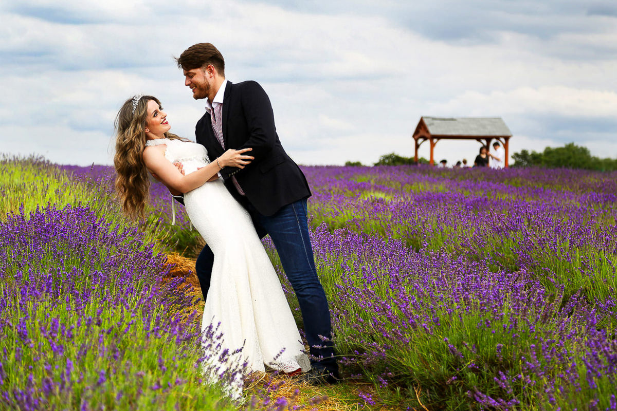 lavender field wedding kent