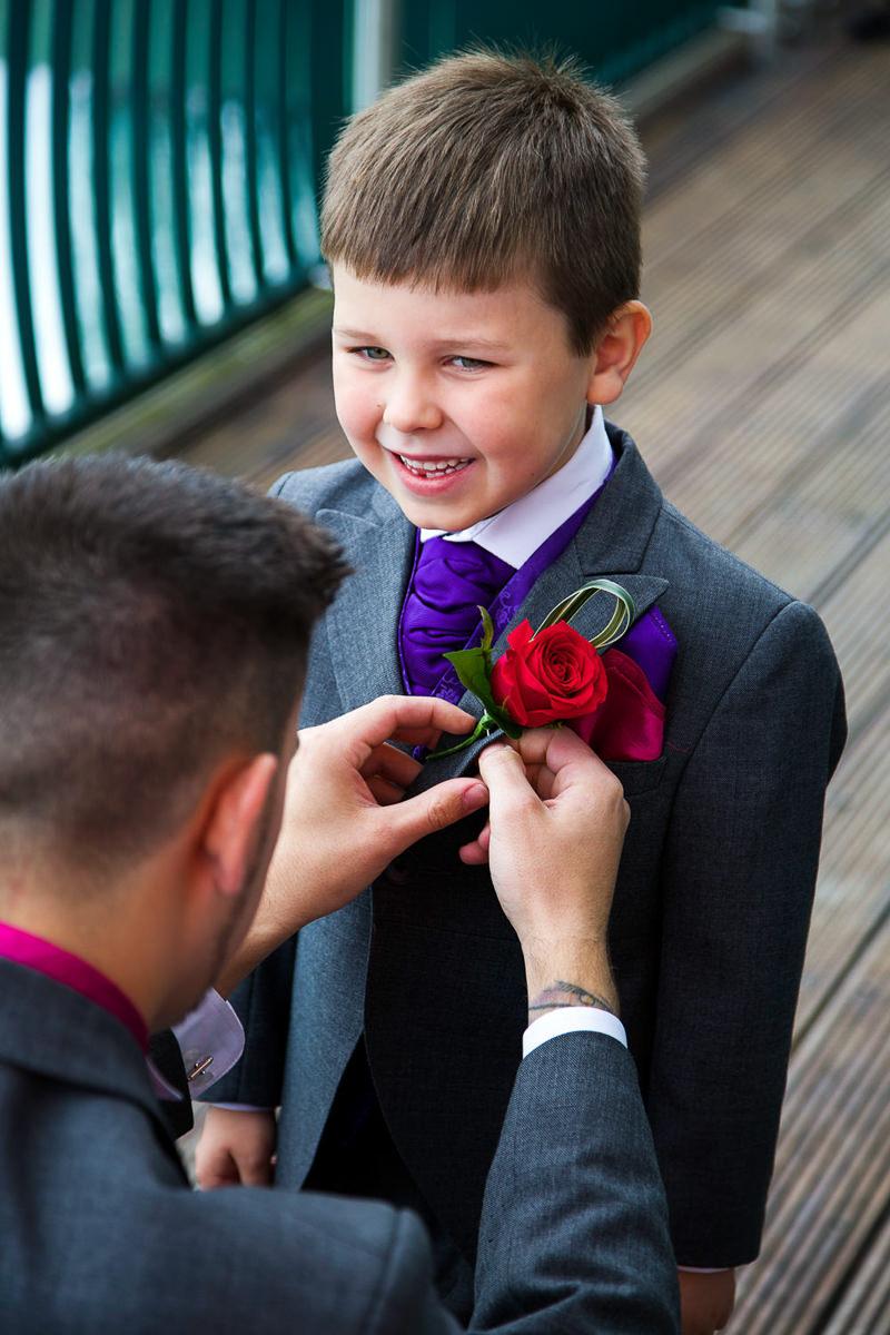 boy in suit wedding