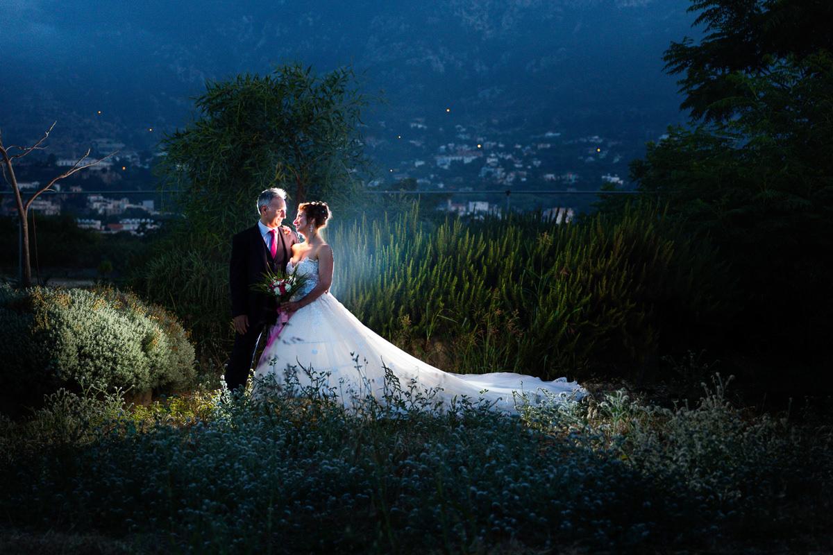 bride and groom at wedding northern cyprus