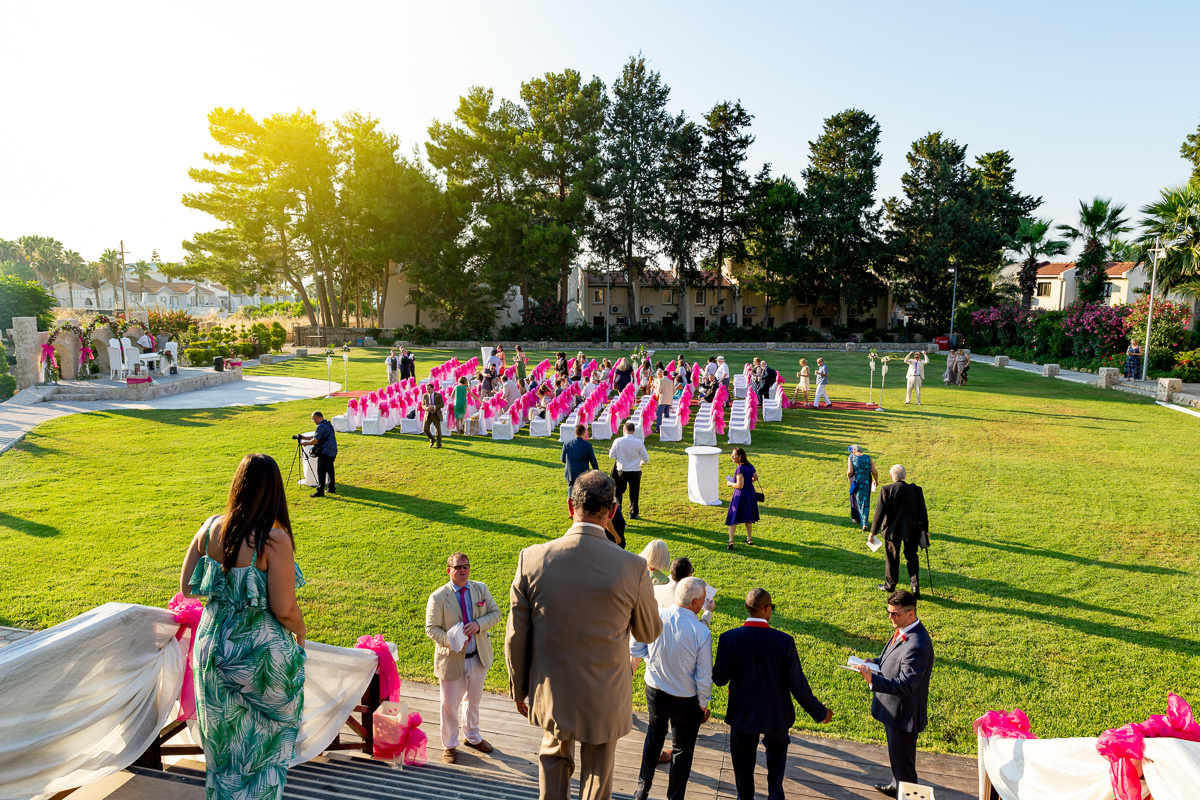 guests assemble wedding photography northern cyprus