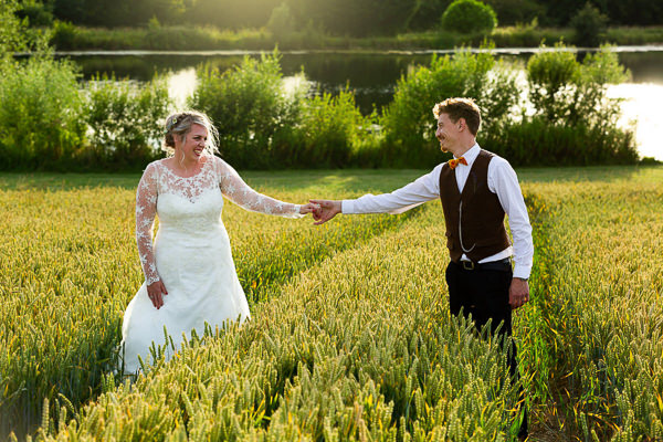wedding wheat fields essex clavering