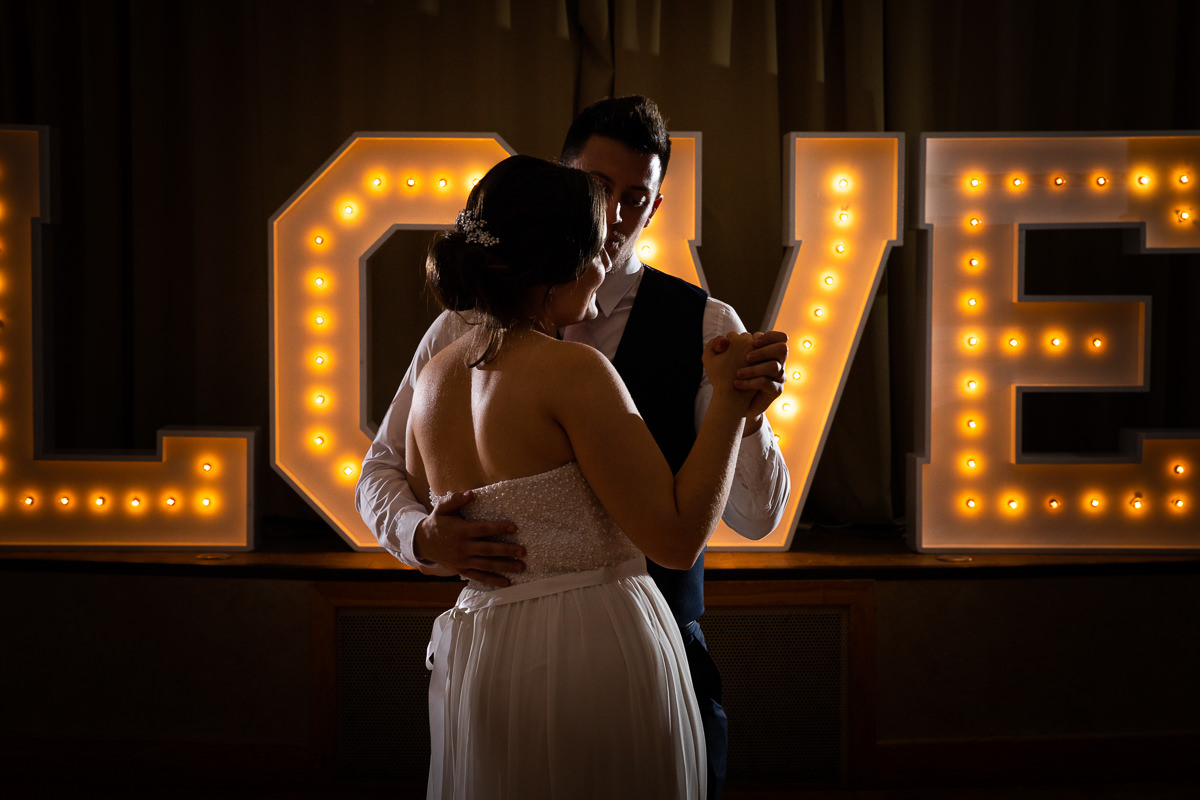 man and woman first dance london wedding
