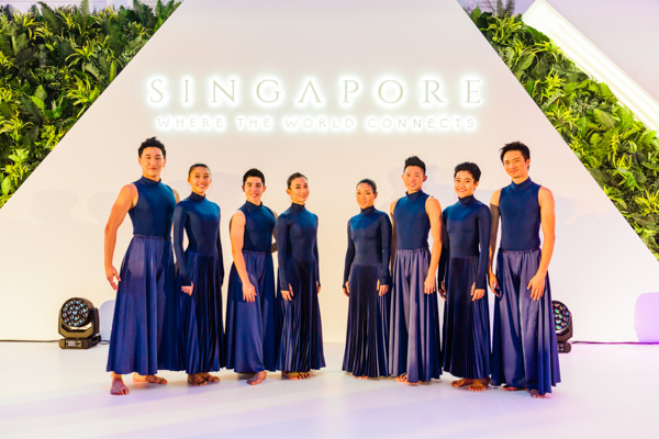 dancers on stage for singapore business event