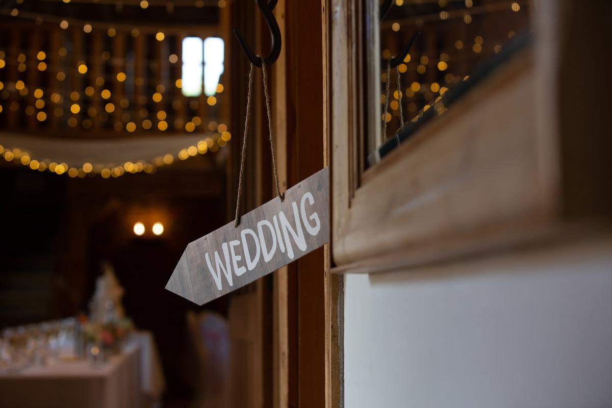 wedding sign before editing