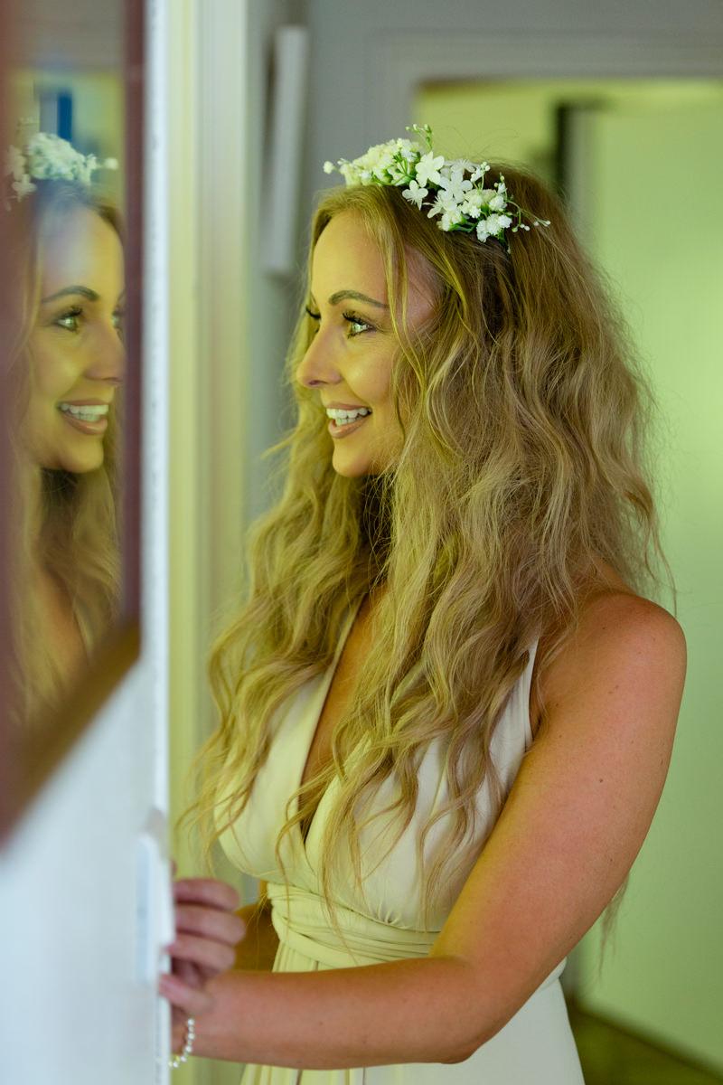 bridesmaid shot before editing